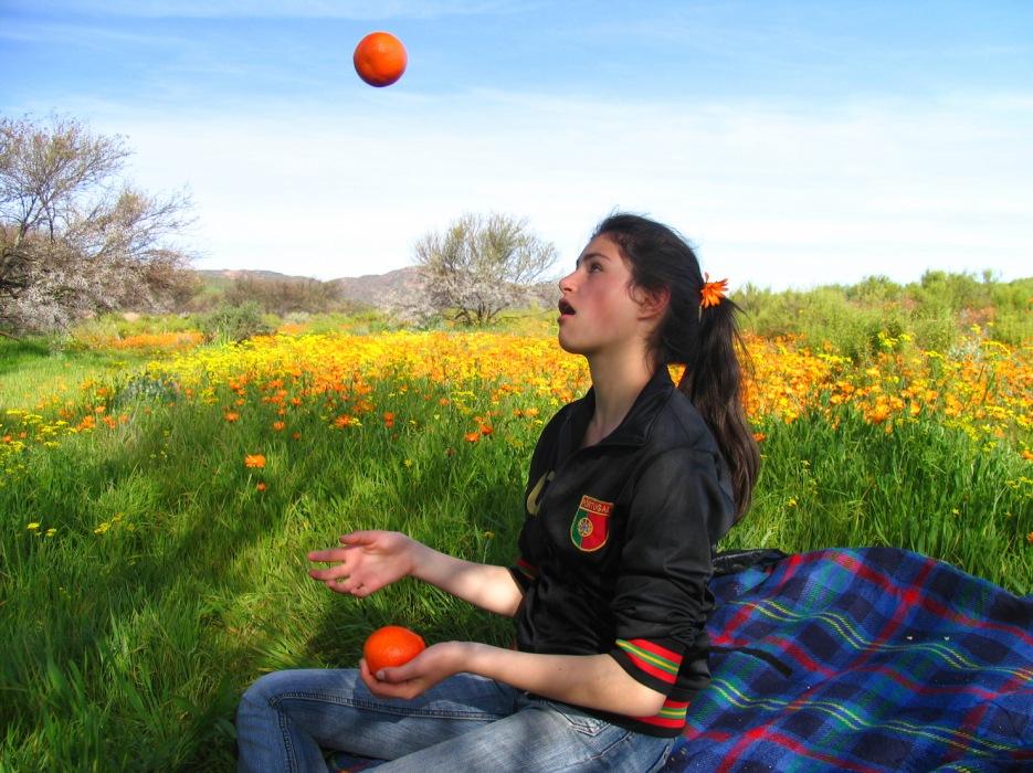 photoblog image juggling act and a picnic